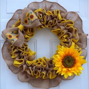 Spring Wreath for Front Door, Spring Decoration.